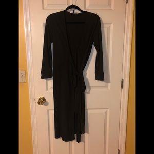 Chocolate Brown Size 10 DVF wrap dress